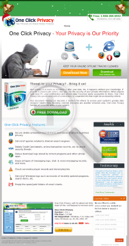 One Click Privacy preview. Click for more details