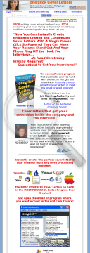 Oneclick Cover Letters preview. Click for more details