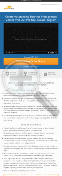 Online Business Unit Manager Certificate preview. Click for more details