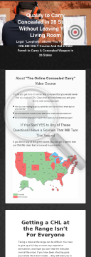 Online Concealed Carry Permit Class - 28 States preview. Click for more details