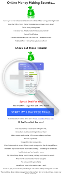 Online Money Making Secrets preview. Click for more details