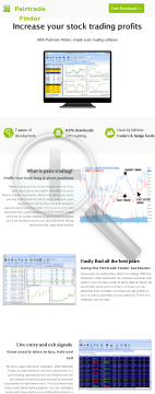 Pairtrade Finder - Stock Trading Software preview. Click for more details