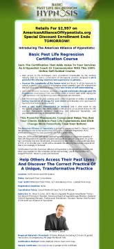 Past Life Regression Hypnosis Certification preview. Click for more details