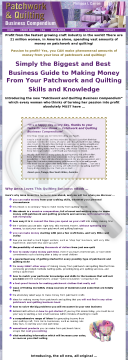 Patchwork & Quilting Business Compendium preview. Click for more details