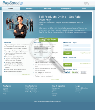 Payspree.com - The Instant Commission Affiliate Network preview. Click for more details