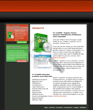 Pc-cleaner Top Registry Cleaner preview. Click for more details