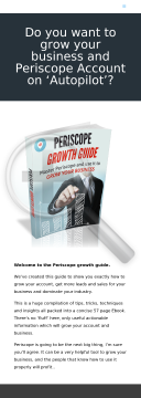 Periscope Growth Guide - Hot New Product! preview. Click for more details