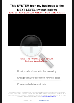 Periscope Marketing Mastery - Making Customers (and You) Big Money! preview. Click for more details