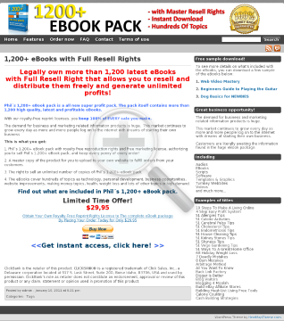 Phils 1,200+ Ebook Pack preview. Click for more details