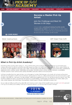 Pick Up Artist Academy - Up To $552 Per Sale! preview. Click for more details