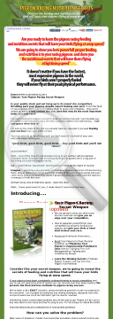 Pigeon Racing Nutrition Secrets Exposed preview. Click for more details