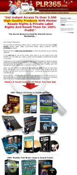 Plr365.com Top Private Label Membership Site preview. Click for more details