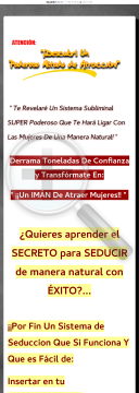Poderoso Metodo De Seduccion Subliminal Pro | Diferente A Todos preview. Click for more details