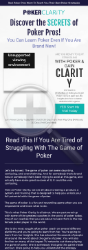 Poker Clarity - Poker Training From Professionals preview. Click for more details
