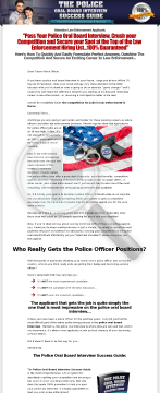 Police Test Preparation - Police Oral Board Interview preview. Click for more details