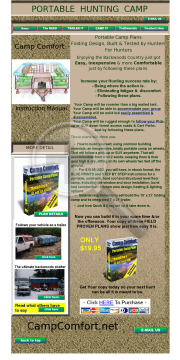 Portable Hunting Camp - Camp Comfort preview. Click for more details