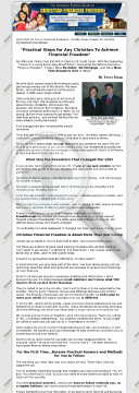 Practical Guide To Christian Financial Freedom preview. Click for more details