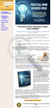 Practical Home Business Ideas. preview. Click for more details