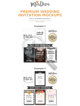 Premium Wedding Invitation Mockups preview. Click for more details