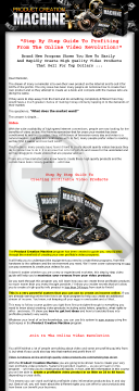 Product Creation Machine - How To Create Video Info Products preview. Click for more details