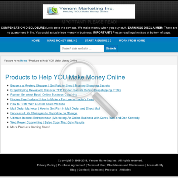 Products To Help You Make Money Online preview. Click for more details