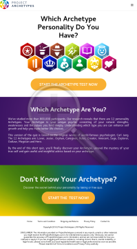 Project Archetypes /w Hyper-personalization Conversion Hack preview. Click for more details