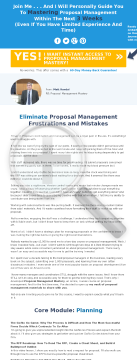 Proposal Management Mastery preview. Click for more details