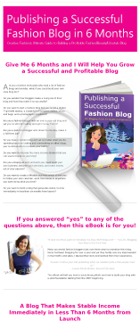 Publishing A Successful Fashion Blog preview. Click for more details