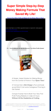 Pyro Niche Profits - A Killer Step-by-step Making Money Formula preview. Click for more details