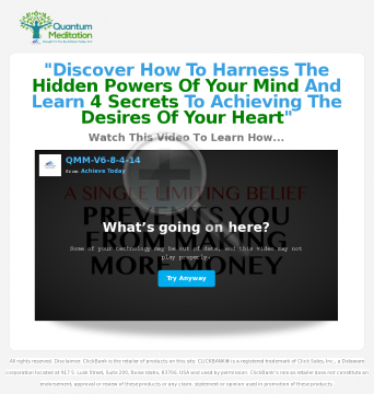 Quantum Money Meditations - Clear Limiting Beliefs Forever! preview. Click for more details