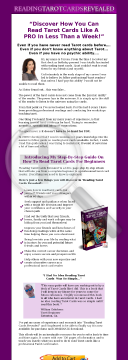 Reading Tarot Cards Revealed preview. Click for more details