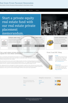 Real Estate Private Placemants preview. Click for more details