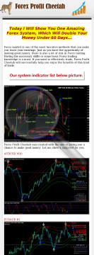 Real Make Money Doubling Forex Profit Cheetah - Sells Like Candy! preview. Click for more details
