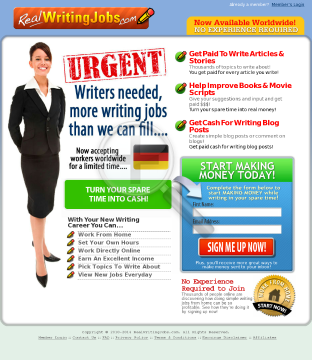 Real Writing Jobs preview. Click for more details