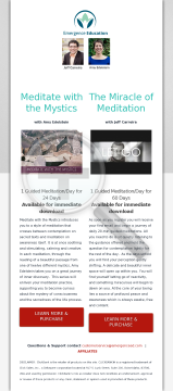 Reap The Benefits Of Our Unique Daily Guided Mediation Programs! preview. Click for more details