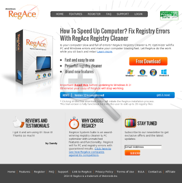 Regace: Speeds Up Computer & Fixs Registry Errors - High Conversions preview. Click for more details