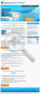 Registry Cleaner & PC Optimizer preview. Click for more details