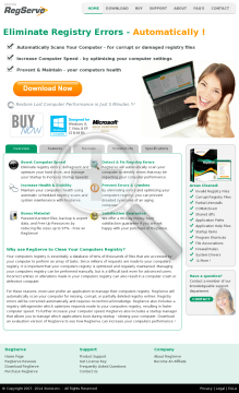 Regserve - Best Converting Registry Cleaner ! preview. Click for more details