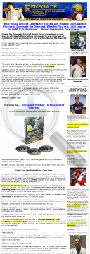 Renegade Mindset Techniques For Baseball - Mental Game Mastery preview. Click for more details
