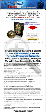 Reprograma Tu Mente Subliminalmente - 70% Comision preview. Click for more details