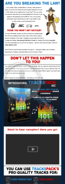 Royalty Free Music - 101 Original Pro Quality MP3 Tracks preview. Click for more details