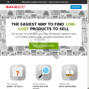 Salehoo Wholesale Sources / eBay<sup>®</sup> Directory - #1 Affiliate Program preview. Click for more details