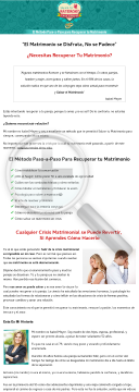 Salva Tu Matrimonio Para Siempre + 75% De Comision | Gran Nicho preview. Click for more details