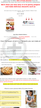 Scrummy Desserts Recipe Ebook preview. Click for more details