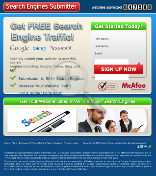 Search Engines Submitter preview. Click for more details