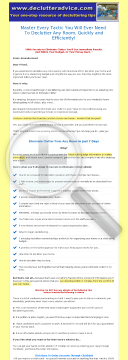 Secrets To Eliminate Clutter preview. Click for more details