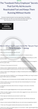 Secure Your Facebook Ad Accounts Training - Over $300 Per Sale preview. Click for more details