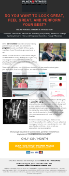 Self Guided Online Personal Training preview. Click for more details