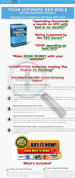 SEO And Online Marketing Course - 75% Commissions preview. Click for more details