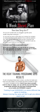 Sergi Constance 6 Week Shred preview. Click for more details